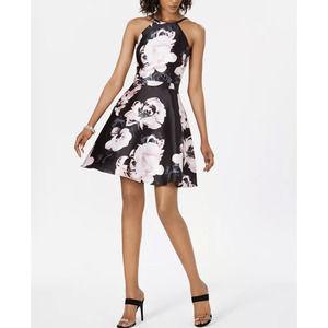 Xscape Floral Print Fit & Flare Dress Bridal Prom
